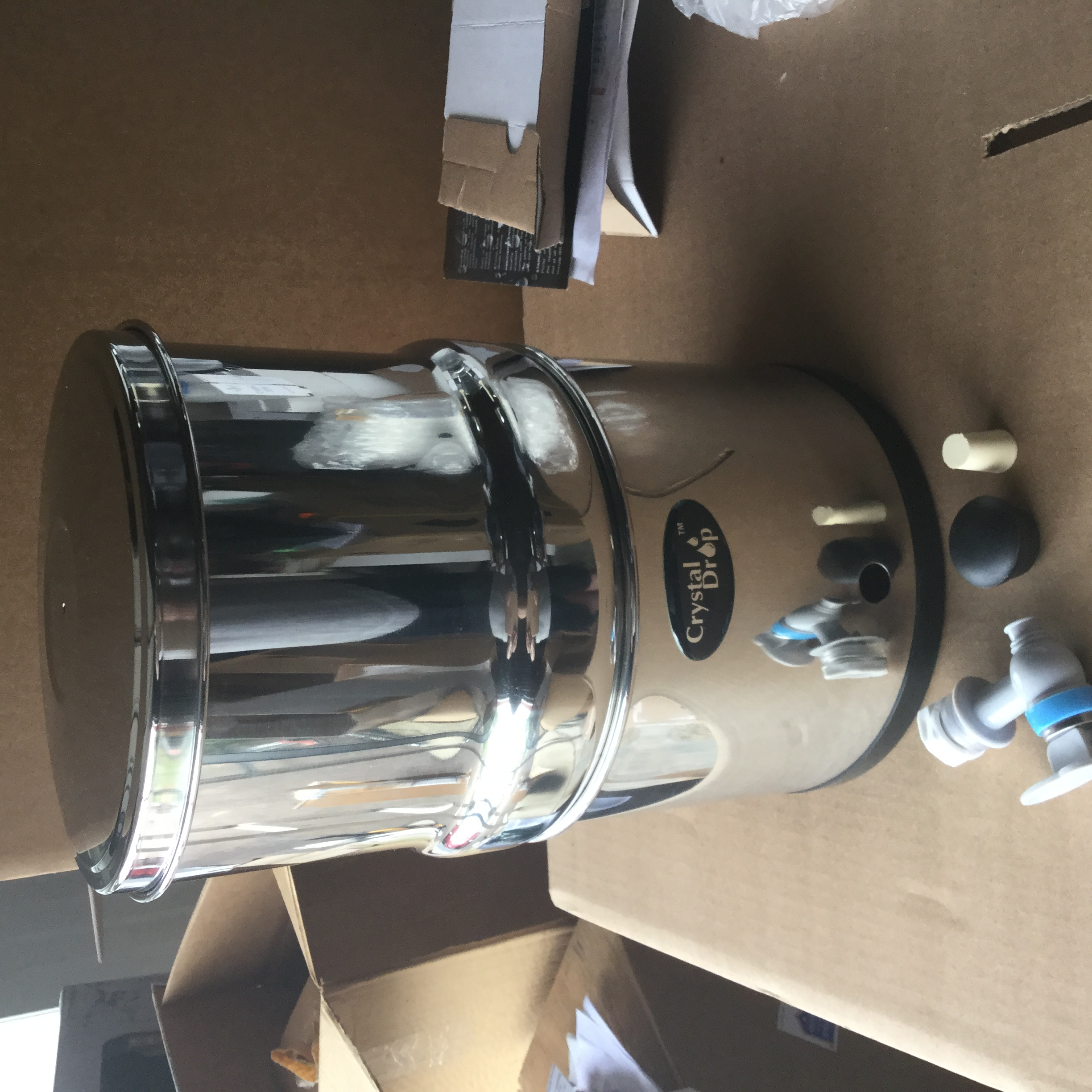 New 1.2 Gallon Stainless Steel Filter Body #202 Stainless