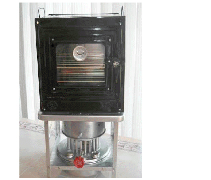 Aluminum Stove and Oven Combo (assembled)