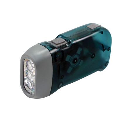 3 Super Bright White LED Dynamo Flashlight